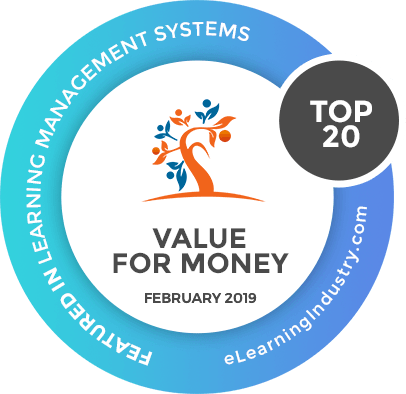 eLearning Industry Top 20 LMS Value for Money 2019
