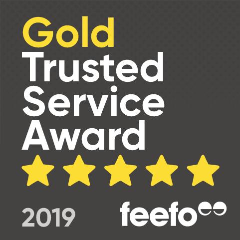 Feefo Trusted Service Gold Award 2019
