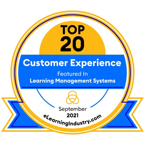 eLearning Industry Top 20 LMS CX 2021