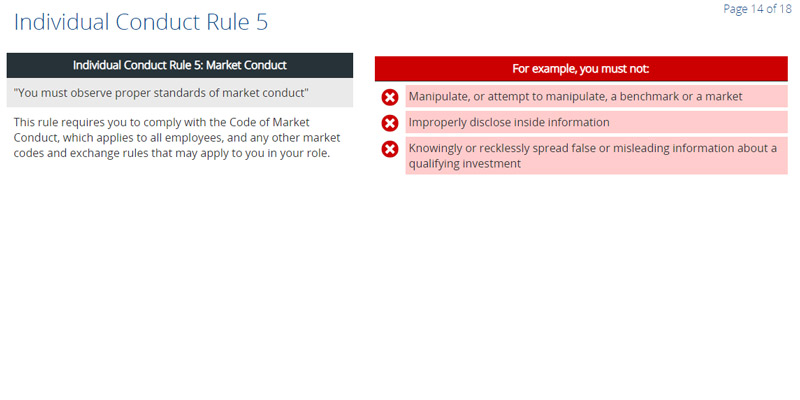 Conduct Rules for Non-certified Persons