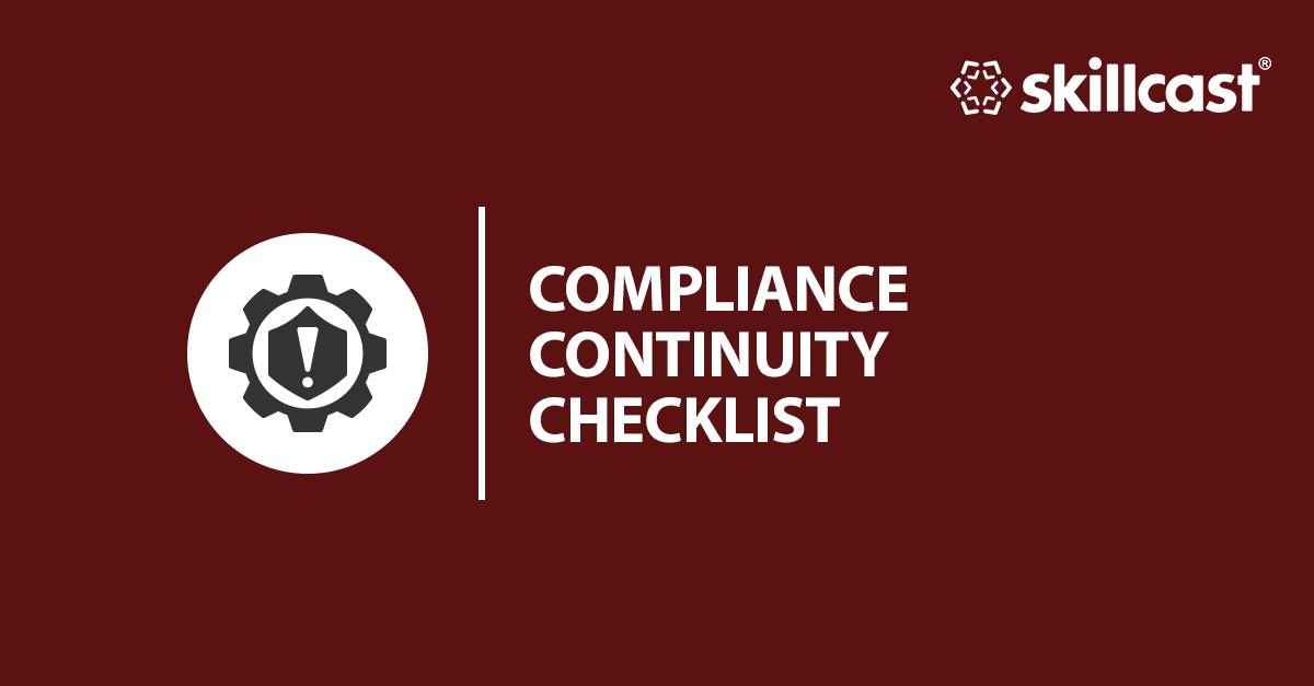 Compliance Continuity Management Checklist