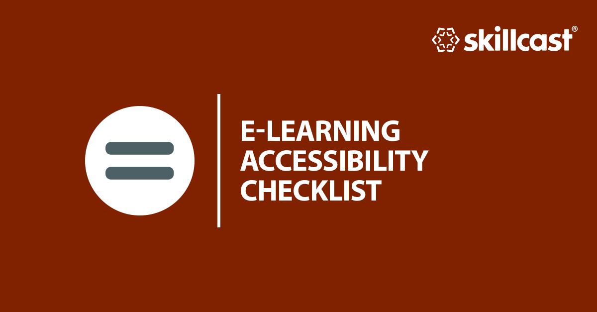 E-learning Accessibility Checklist