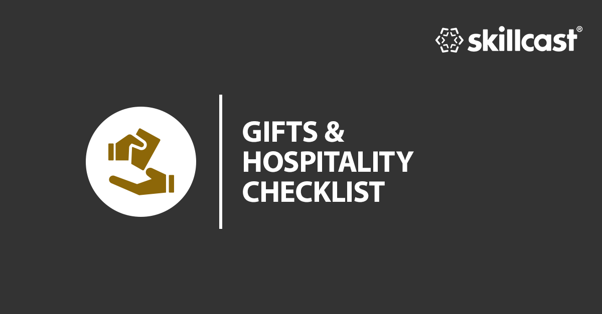 Corporate Gifts & Hospitality Checklist