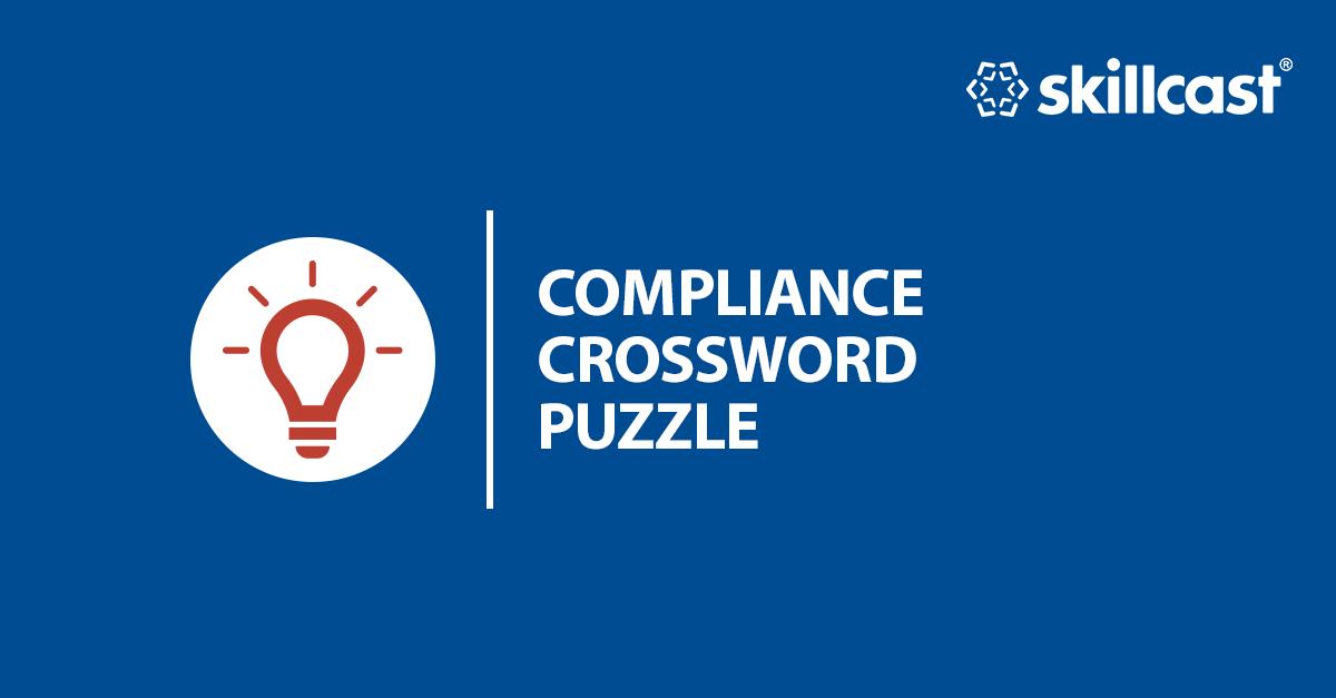 Skillcast Compliance Crossword