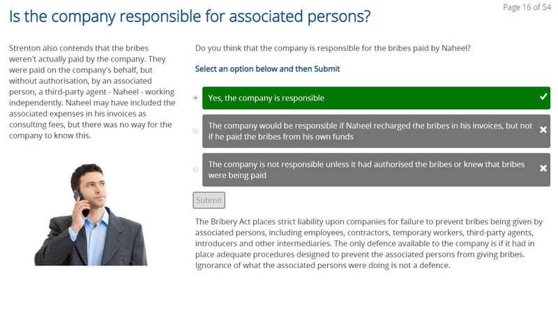 Is the company responsible for associated persons