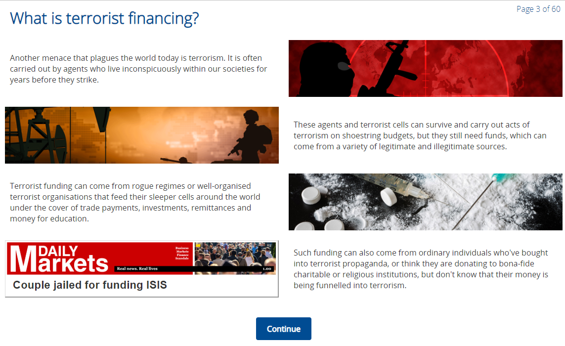 What is terrorist financing