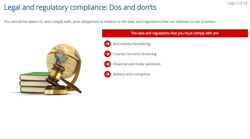 Legal and Regulatory Compliance