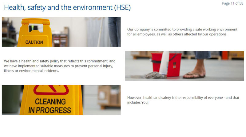 Health safety and the environment