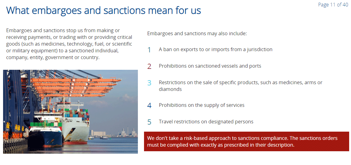 Embargoes and Sanctions