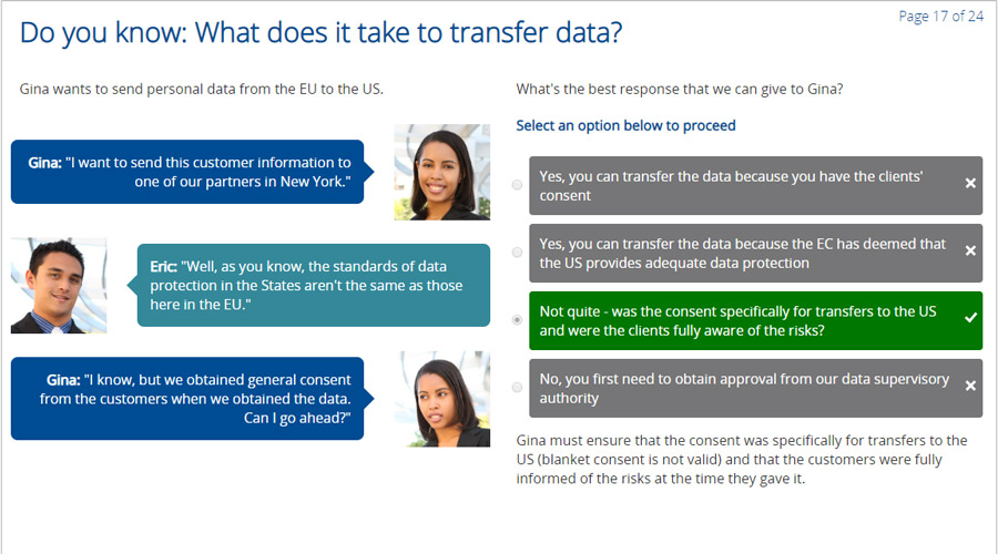 What does it take to transfer data